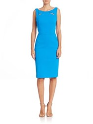 Zac Posen Cutout Cocktail Dress Ultramarine Black