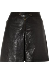 Tomas Maier Leather Shorts Black