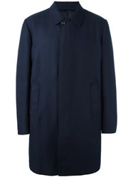 Moncler Padded Classic Coat Blue