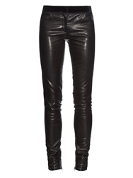 Emilio Pucci Leather Skinny Leg Trousers