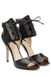 Paul Andrew Leather Stiletto Pumps Black