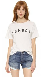 Amo Tomboy Graphic Tee Dirty White With Destroy