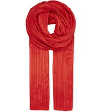 Issey Miyake Pleats Please Madame Scarf Red
