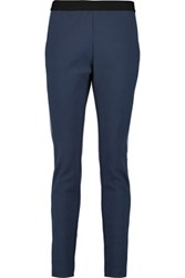Maje Pique Tapered Pants Midnight Blue