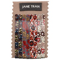 Jane Tran Floral Hair Slides Pack Of 8 Multi