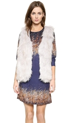 Glamorous Faux Fur Vest Light Grey