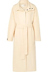The Row Panae Silk And Cotton Blend Trench Coat Beige