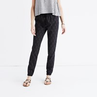 Madewell Shorewalk Cover Up Pants In Painted Diamond Egyptian True Black