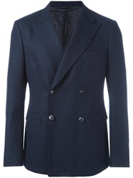 Tonello Double Breasted Suit Jacket Blue