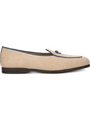 Bow Tie 'Henry' Loafers Nude And Neutrals