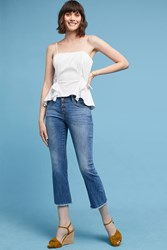 Anthropologie Dl1961 Lara Mid Rise Slim Cropped Flare Jeans Denim Light