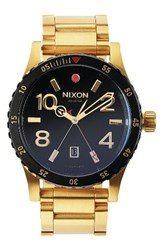 Nixon Men's The Diplomat Bracelet Watch 45Mm Gold Black