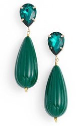 Zenzii Women's Teardrop Earrings Green