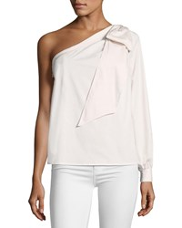 Cynthia Steffe One Shoulder Bow Blouse Pink