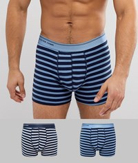 Selected Homme Boxers 2 Pack Dk Sapphire Blue Multi