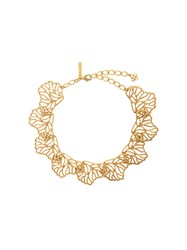 Oscar De La Renta Coral Branch Necklace Metallic
