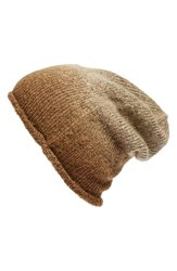 Women's Phase 3 Ombre Beanie Brown Tan Burro