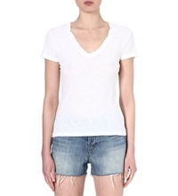 James Perse V Neck Jersey T Shirt White