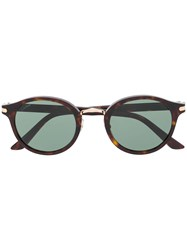 Cartier Circle Frame Sunglasses Brown