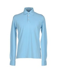 Fedeli Polo Shirts Sky Blue