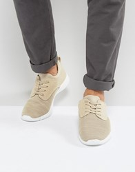 New Look Runner Trainers With Knitted Detail In Cream Cream