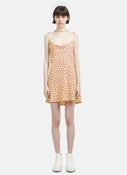 Eckhaus Latta Decolelte Party Dot Dress Green