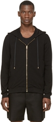 Versus Black And Gold Lion Head Embroidered Hoodie