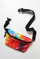 Forever 21 Tie Dye Fanny Pack Blue Green