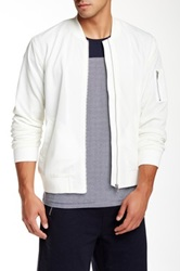 Shades Of Grey Mesh Bomber Jacket White