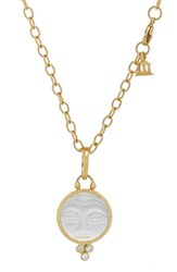 Temple St Clair Women's St. Moonface Rock Crystal And Diamond Pendant