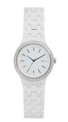 Dkny Park Slope Watch White Stainless Steel