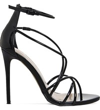 Office Angel Patent Strappy Sandals Black Patent
