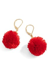 J.Crew Pompom Drop Earrings
