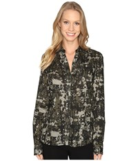 Jag Jeans Roan Shirt In Printed Rayon Jungle Camo Women's Clothing Brown