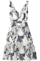 Erdem Gaby Belted Fil Coupe Dress White