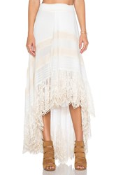 Spell And The Gypsy Collective Peasant Girl Wrap Skirt White