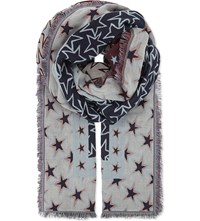 Sandro Stars Cotton Blend Scarf Multi Color