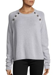 The Kooples Button Detailed Cashmere Sweater Grey