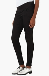 Topshop Moto 'Leigh' Maternity Jeans Short Black