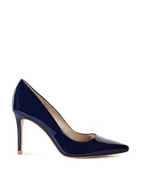 Karen Millen Patent Leather Pointed Toe Court Pumps Navy