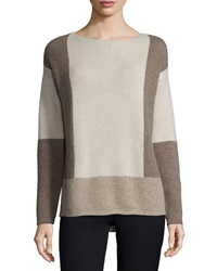 Vince Intarsia Colorblock Wool Cashmere Sweater