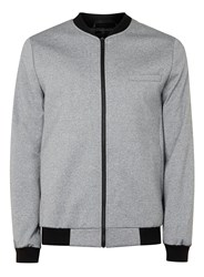 Topman Tailored Jersey Bomber Light Grey