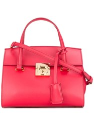 Salvatore Ferragamo Small Mara Satchel Red