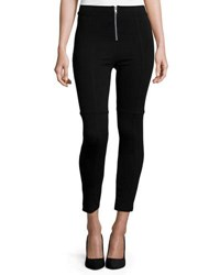 Lamade Fiona Zip Front Ankle Leggings Black