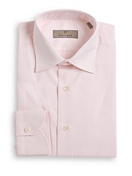 Canali Regular Fit Cotton Dress Shirt Light Pink