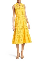 Kate Spade Women's New York Eyelet Embroidered Patio Dress