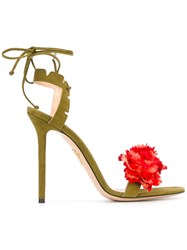 Charlotte Olympia Carnation Stiletto Sandals Green
