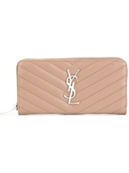 Saint Laurent 'Monogram' Purse Nude And Neutrals