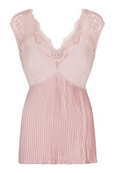 Nougat London Flora Pleated Lace Camisole Pink