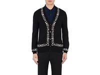Alexander Mcqueen Men's Wool Blend Cardigan Sweater No Color